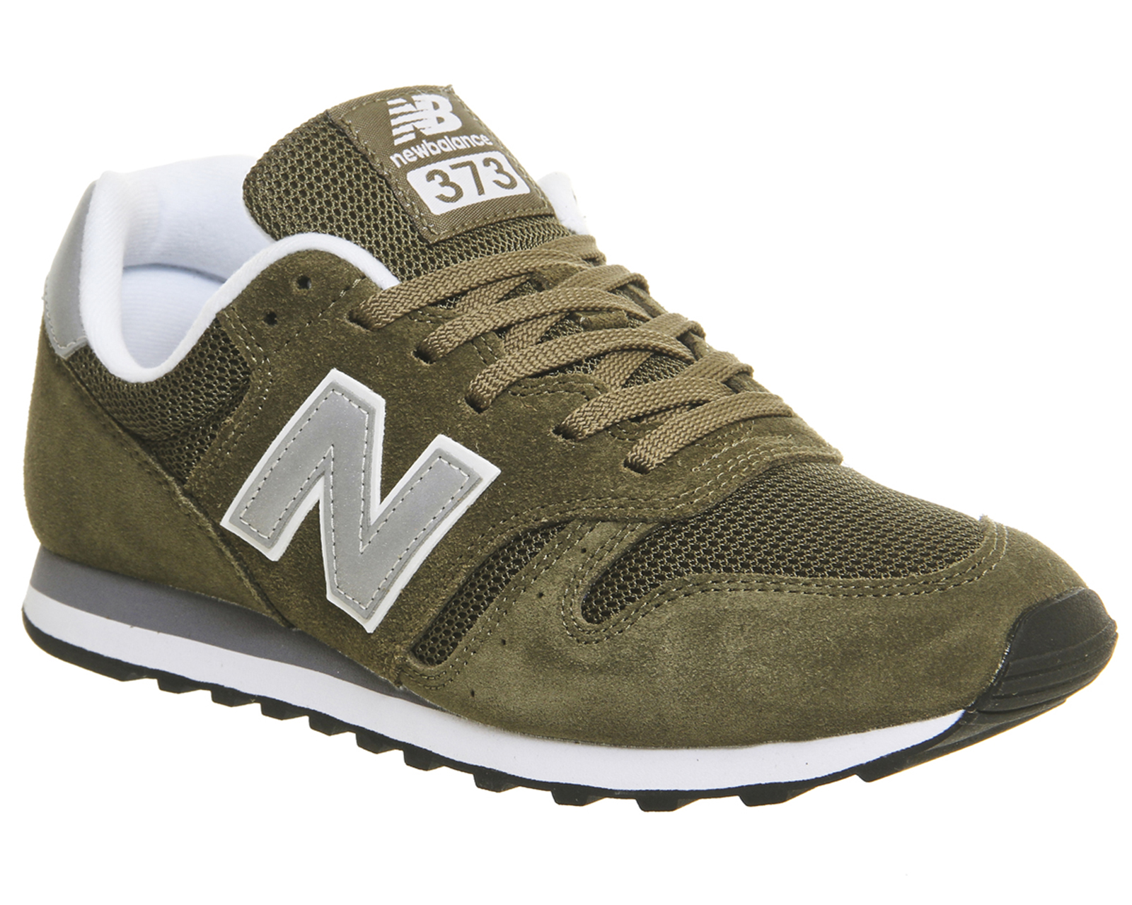 a1ba0540daae Sentinel Mens New Balance 373 Olive Silver Trainers Shoes