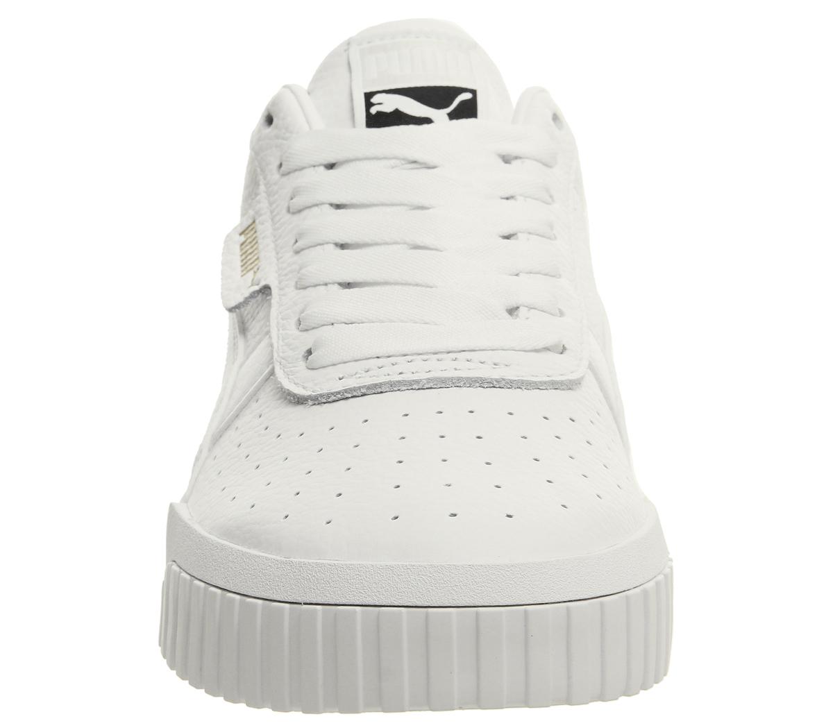 dfb5ad0643e Womens Puma Cali Trainers Puma White Puma White Trainers Shoes