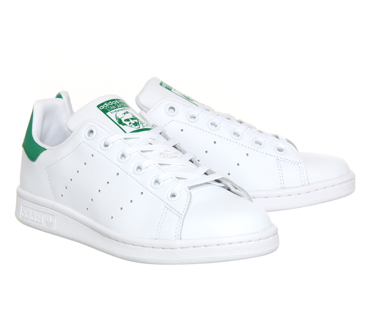 Mens-Adidas-Stan-Smith-Trainers-Core-White-Green-Trainers-Shoes thumbnail 57