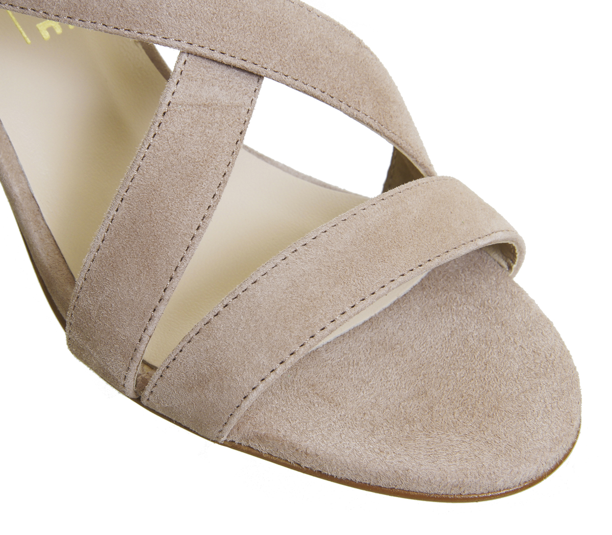 87e7edcc514c Womens OFFICE Marshmallow Block Heel Sandals Nude Kid Suede HEELS UK 7.  About this product. Picture 1 of 2  Picture 2 of 2