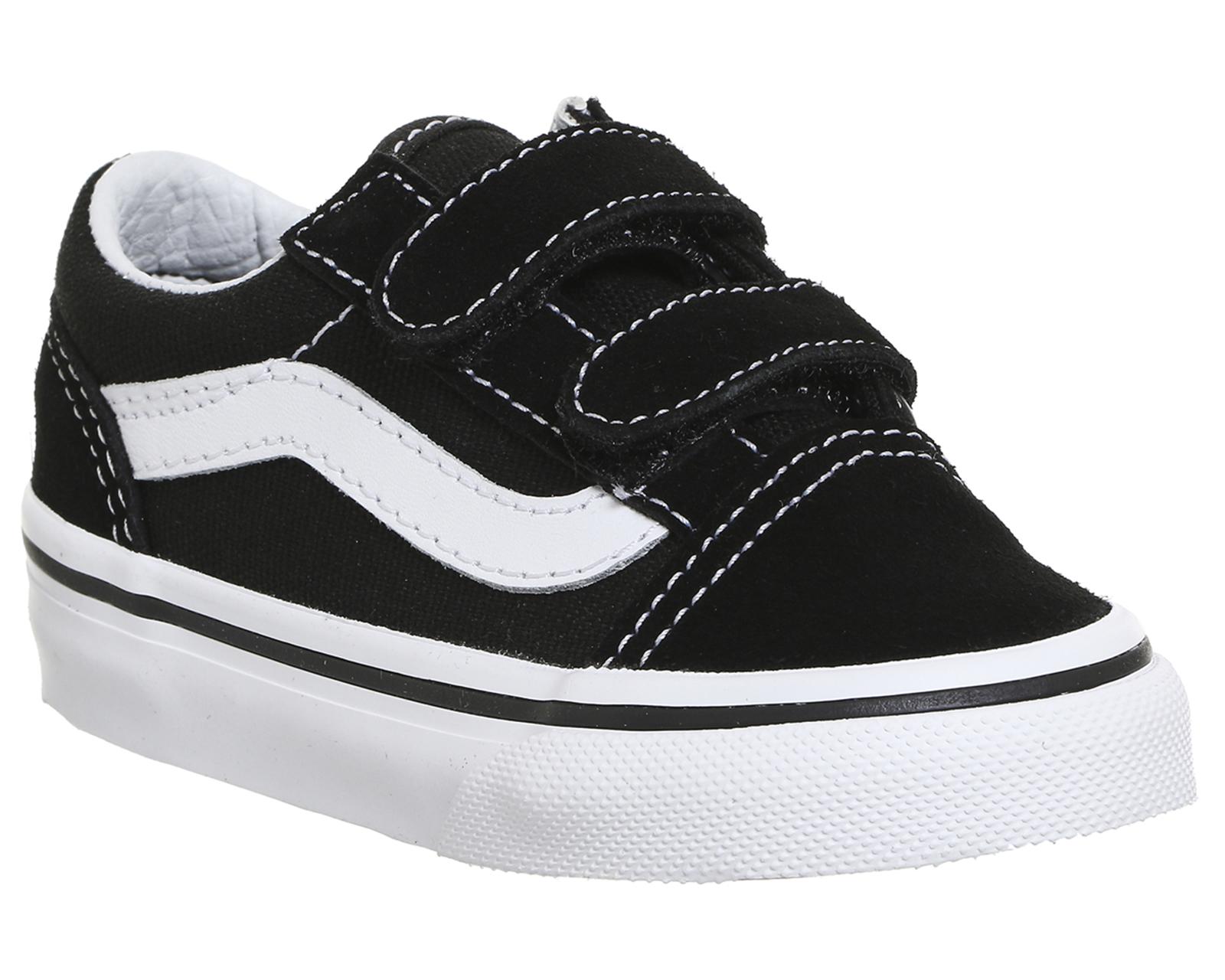 ad52592677 Sentinel Kids Vans Old Skool Black True White Kids