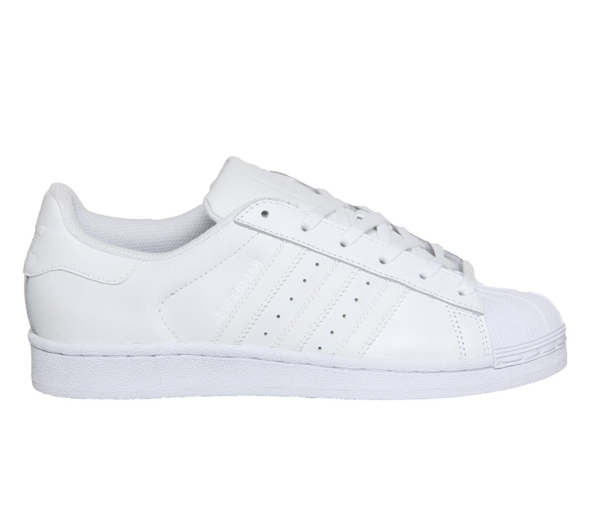 Short-Femme-Adidas-Superstar-Baskets-Blanc-Mono-Foundation-