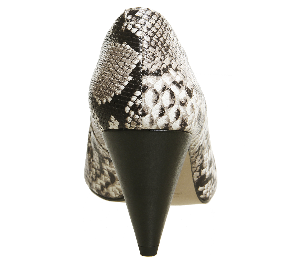 Damenschuhe Office Motor Cone SNAKE Heel Courts NATURAL SNAKE Cone LEATHER Heels c78463