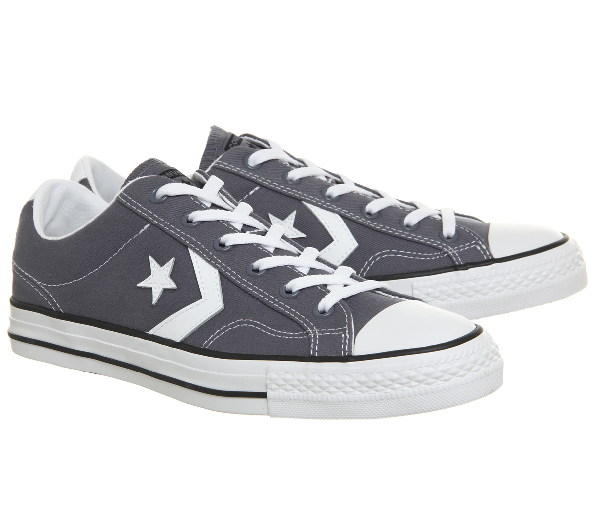 c00d7011224 Converse Star Player Ox Trainers LIGHT CARBON WHITE Trainers Shoes ...