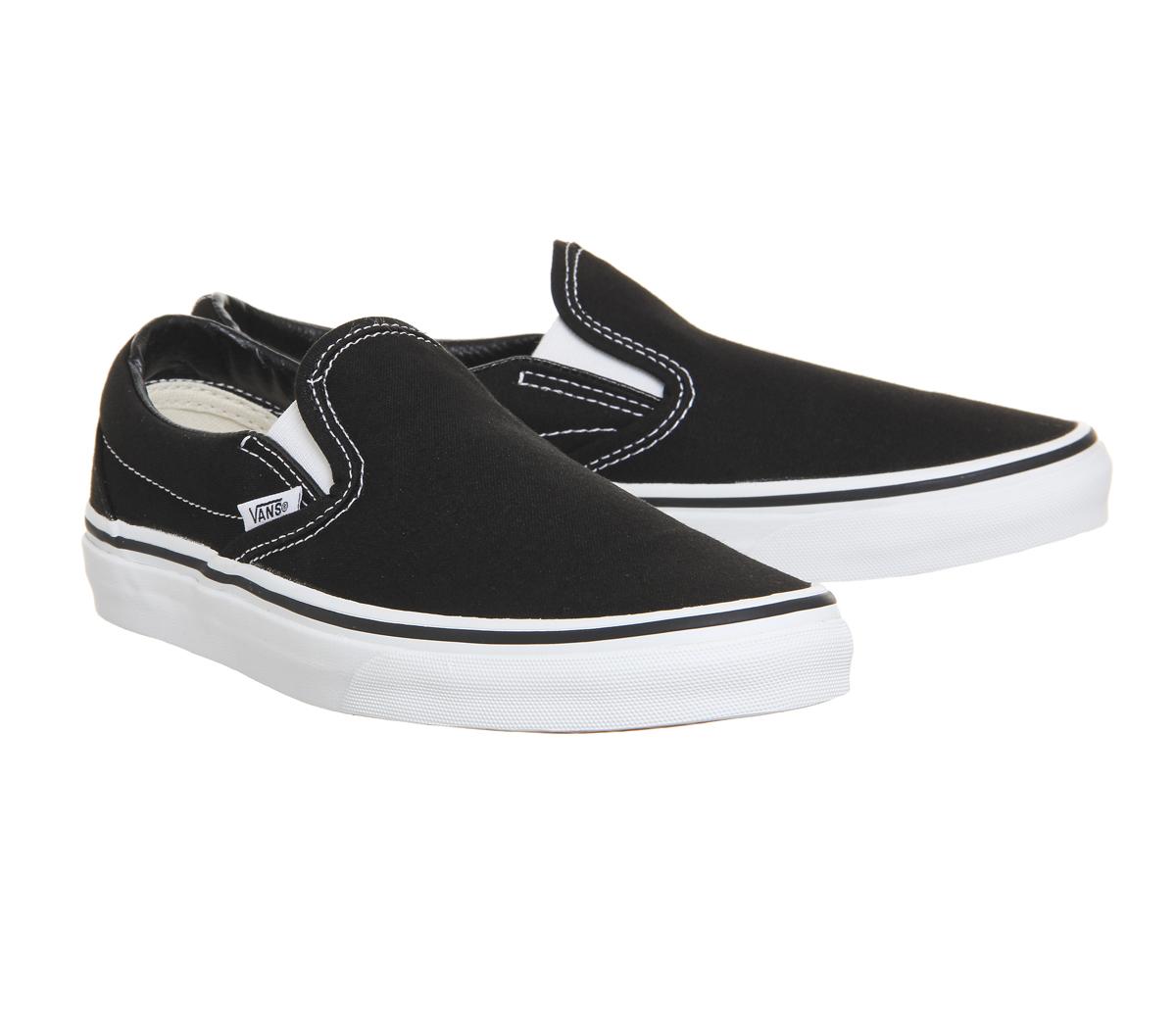 fa9e7f157c Zapatillas para hombre Vans Classic Slip On Negro Blanco Zapatillas ...
