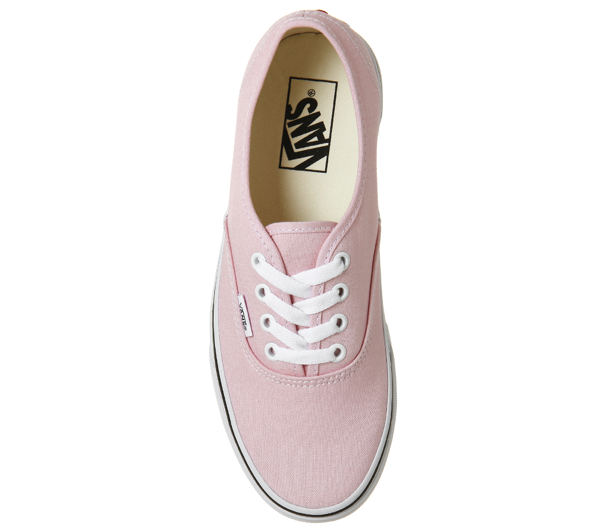 c76c878387 Womens Vans Authentic Trainers CHALK PINK TRUE WHITE Trainers Shoes ...