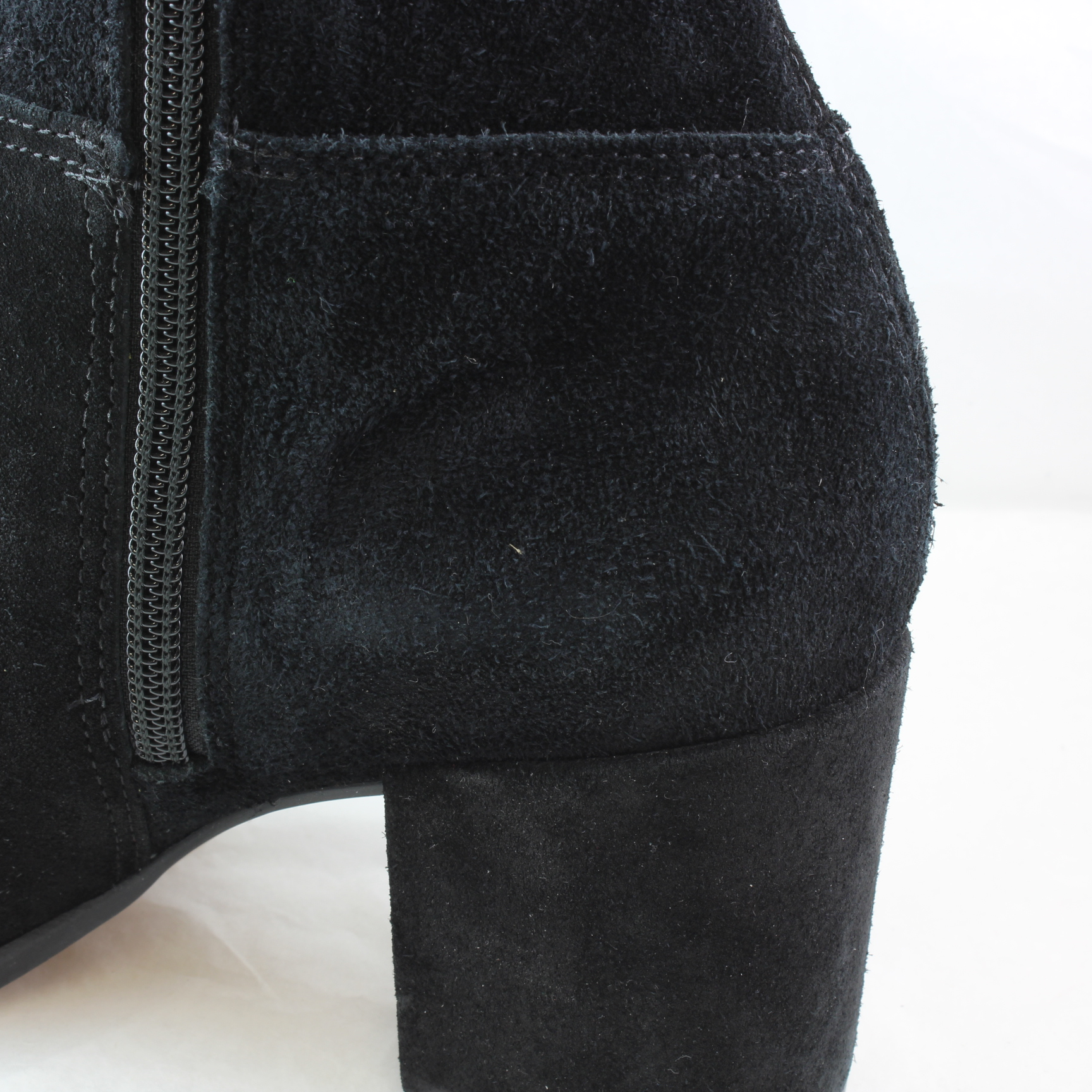 5e9e88ab4f5 Details about Womens Office Know It All Block Heel Knee Boots BLACK SUEDE 2  Boots *Ex Display*