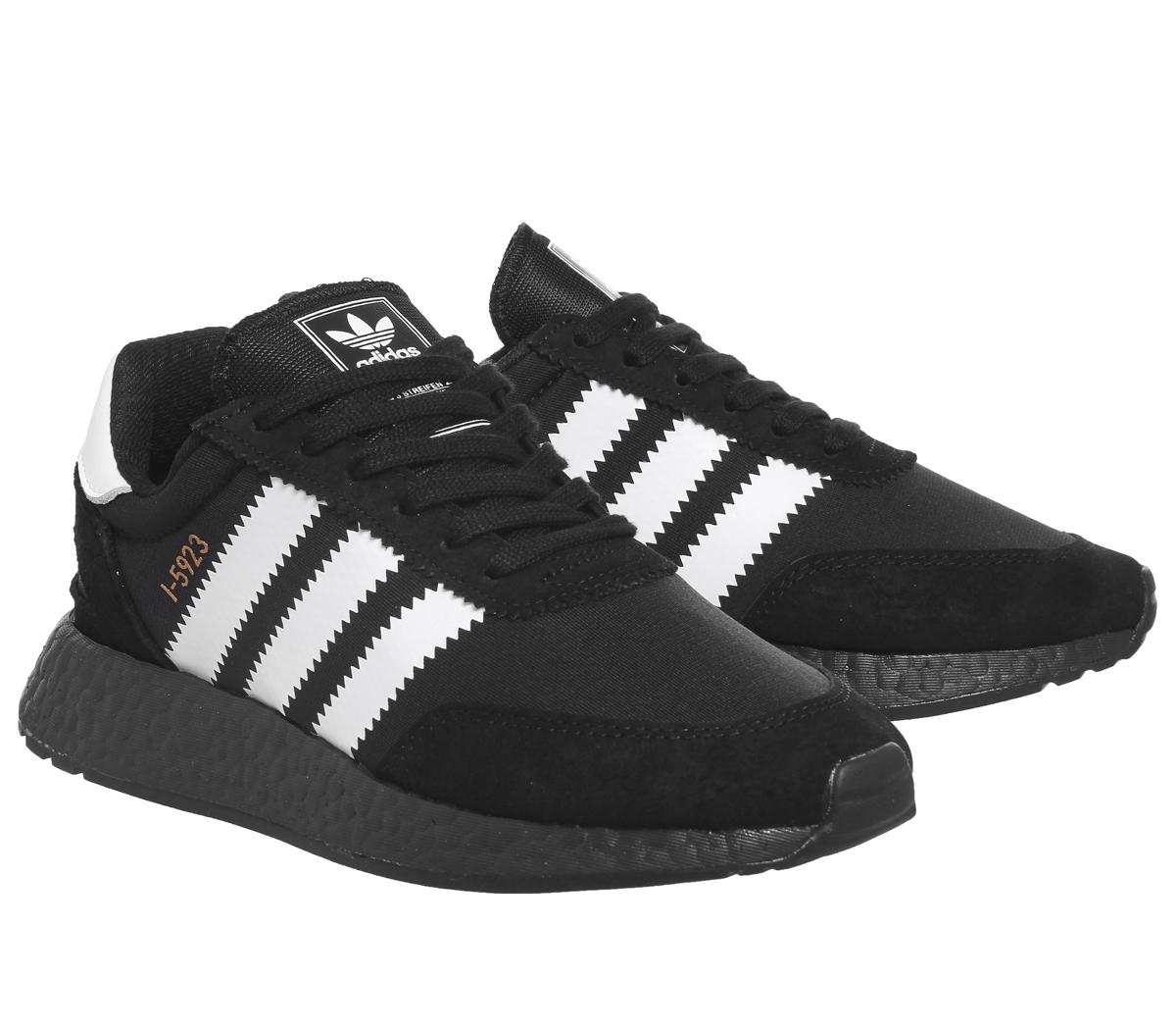 c0d5a8ea5f7c1 Mens Adidas I-5923 Trainers BLACK WHITE COPPER Trainers Shoes