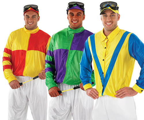 Mens-Jockey-Fancy-Dress-Costume-Horse-Racing-Stag-  sc 1 st  eBay & Mens Jockey Fancy Dress Costume Horse Racing Stag Do Outfit Grand ...