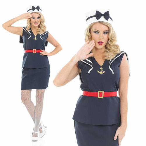 bb4468ab947 40s Pin Up Girl Costume   Ladies-Sexy-Pin-Up-Sailor-Girl-Fancy-Dress ...
