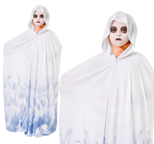 Childrens-Scary-Ghost-Fancy-Dress-Costume-Girls-Halloween-  sc 1 st  eBay & Childrens Scary Ghost Fancy Dress Costume Girls Halloween Outfit ...