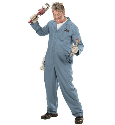 Mens-Male-Psycho-Mechanic-Plumber-Fancy-Dress-Costume-  sc 1 st  eBay & Mens Male Psycho Mechanic Plumber Fancy Dress Costume Halloween ...