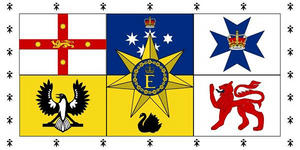 5Ft X 3Ft 5'X3' Flag Australian Royal Standard