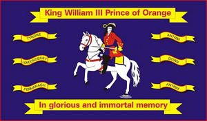 5'X3' Flag Northern Ireland King William Of Orange