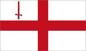 5Ft X 3Ft 5'X3' Flag City Of London England Queen