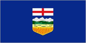 5Ft X 3Ft 5'X3' Flag Alberta