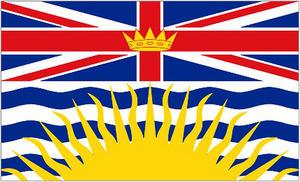 5Ft X 3Ft 5'X3' Flag British Columbia