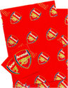 Arsenal Fc Gift Wrap Wrapping Paper & Tags Christmas Birthday Present