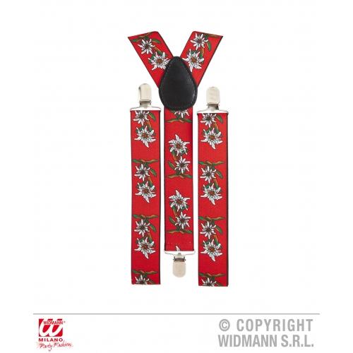 Edelweiss Octoberfest Mens Womens Braces Fancy Dress Costume Suspenders