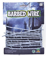 Silver Barbed Wire Halloween Party Decoration Fancy Dress