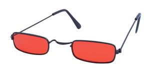 Dracula Glasses With Red Lens Vampire Halloween Fancy Dress Accessory