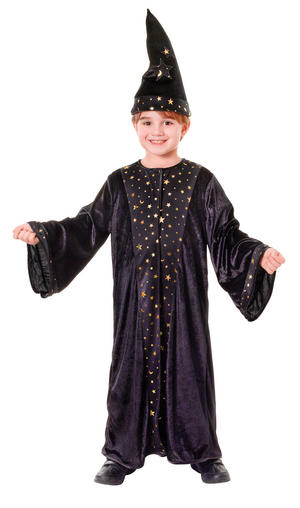 Chidrens Wizard Fancy Dress Costume Boys Girls Halloween Kids Outfit M