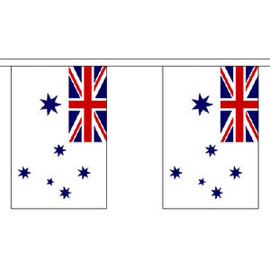 "Australia Australian Navy Ensign Bunting 3m Long With 10 Flags 9""x6"""