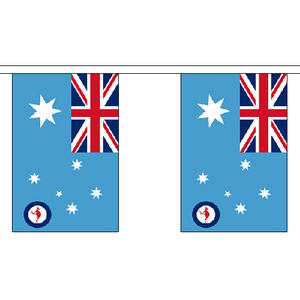"Australia Australian RAF Ensign 3m Long With 10 Flags 9""x6"" Millitary Decoration"