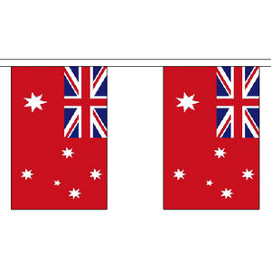 "Australia Australian Red Ensign 3m Long With 10 Flags 9""x6"" Millitary Decoration"