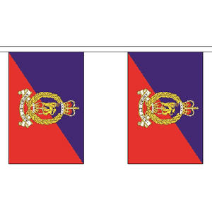 """Adjutant General Corps Bunting 3m Long With 10 Flags 9""""x6"""" Party Decoration"""