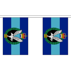 """Army Air Corps Bunting 3m Long With 10 Flags 9""""x6"""" Party Decoration"""