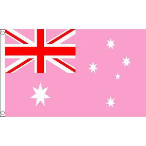 Australia Pink Small Flag 3ft x 2ft Australian Gay Pride March Rainbow Festival