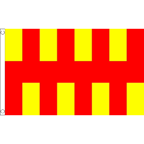 100/% Polyester With Eyelets Banner Sign New Northumbria Flag 5 x 3 FT