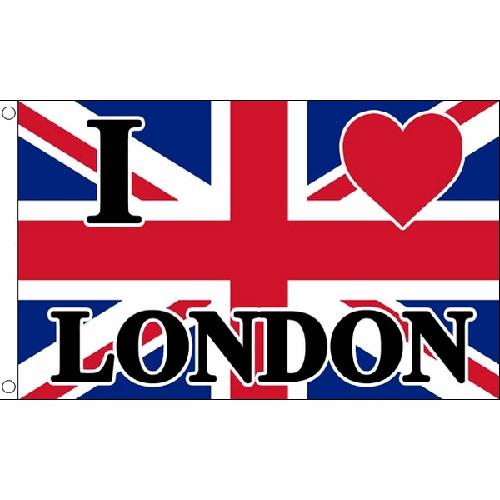 Sentinel I Love London Flag 5Ft X 3Ft Uk City Union Jack Banner With 2 Eyelets New