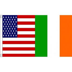 USA & Ireland Friendship Flag Large 6ft x 3ft America American Irish