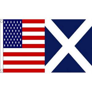 USA & Scotland Friendship Large Flag 6ft x 3ft American American Scottish Alianc