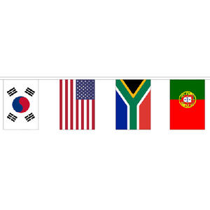 32 Multi Nation Country Flag Giant Bunting 19m - 32  Flags 45cmx30cm - Party