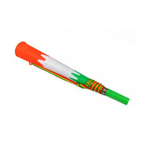 Green White & Orange Supporters Air Blow Horn Vuvuzela Noisy Novelty Trumpet & Strap