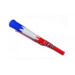 Red White & Royal Blue Supporters Air Blow Horn Vuvuzela Noisy Novelty Trumpet &