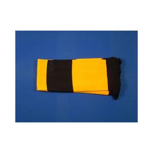 Black & Gold Retro Bar Scarf Football Rugby Team Fan Supporter Unisex