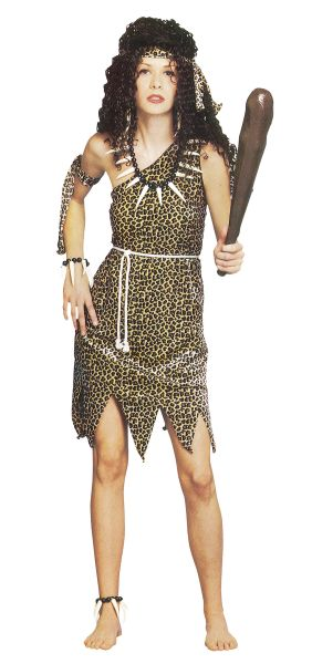 Ladies Animal Print Cavegirl Outfit Fancy Dress Womens Stoneage Outfit UK 10-14