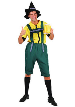 Mens Bavarian Beer Fancy Dress Costume Stag Do German Party Men Boy Outfit