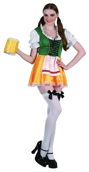 Ladies Bavarian Beer Festival Fancy Dress Costume Sexy German Outfit UK 10-14