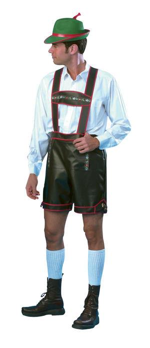 Mens German Green Bavarian Laderhosen Fancy Dress Costume Germany Large Outfit
