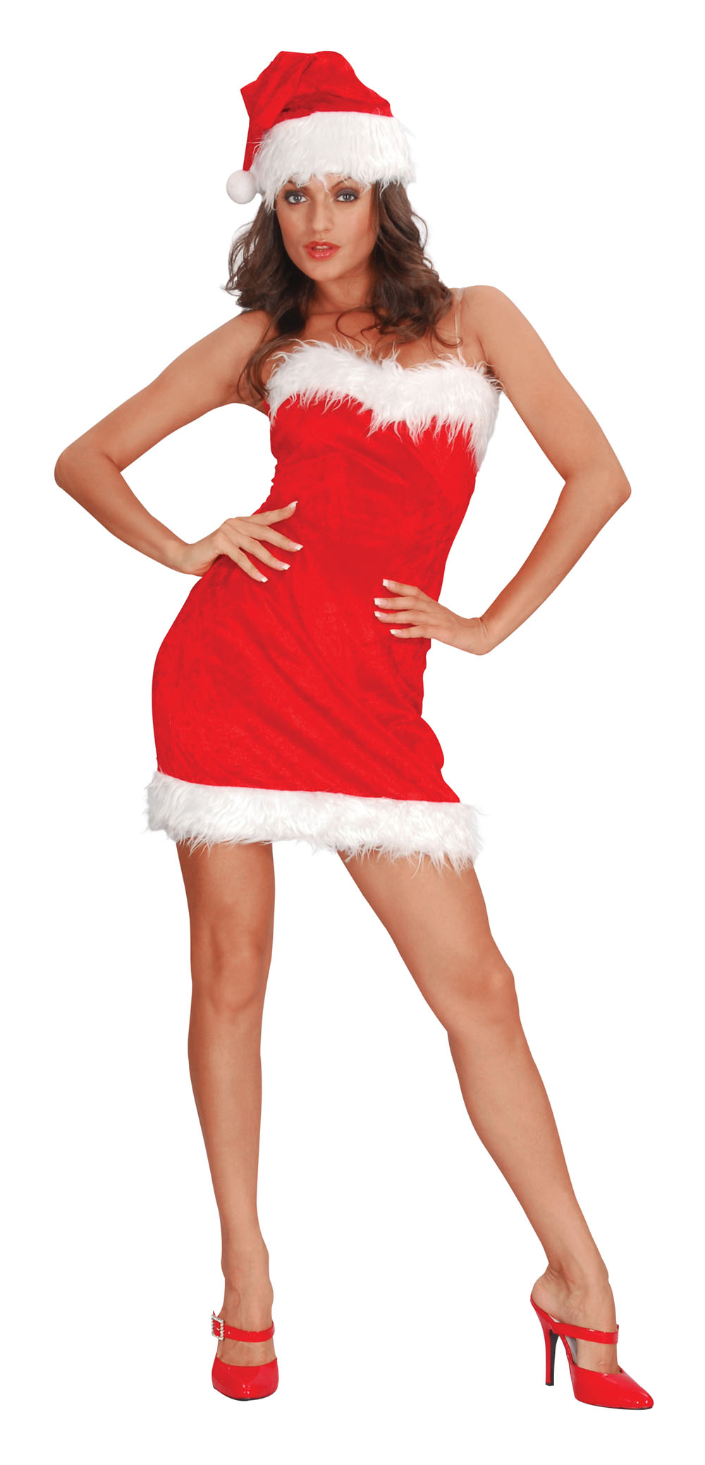 Ladies Sexy Miss Santa Claus Christmas Fancy Dress Costume Xmas Outfit UK 10-14