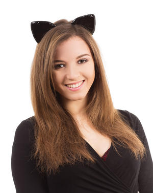 Black Cat Ears On Headband Halloween Fancy Dress Costume Witch Animal Accessory