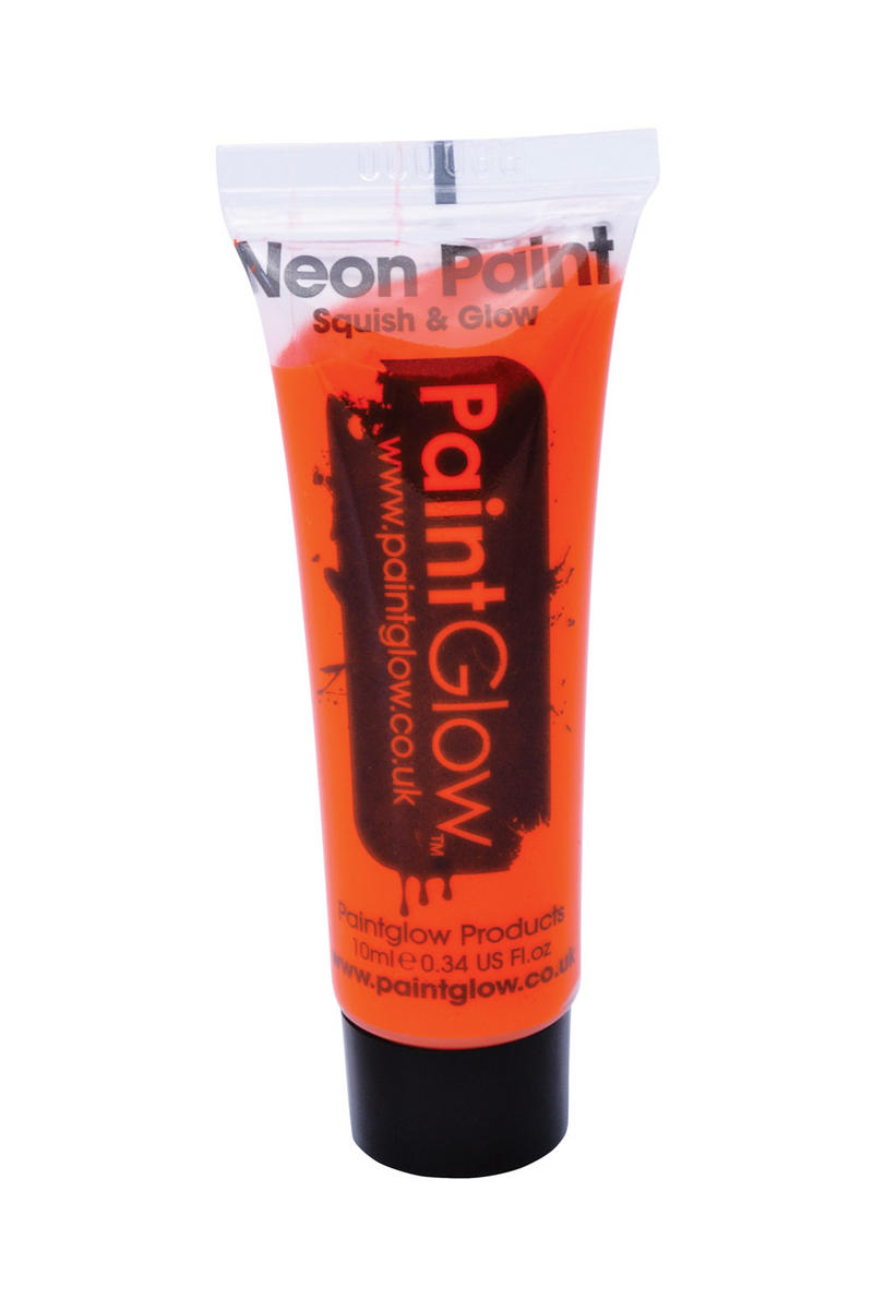 Uv Neon Orange Face Body Paint 10Ml Halloween Pumpkin Festival Make Up Accessory