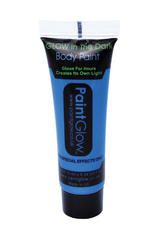 Glow In The Dark Blue Body Paint 10Ml Smurf Party Festival Make Up Accessory New