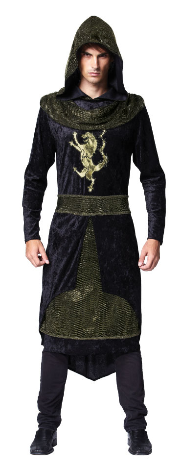 Medieval Prince Hooded Robe Fancy Dress Costume Game Of Thrones New