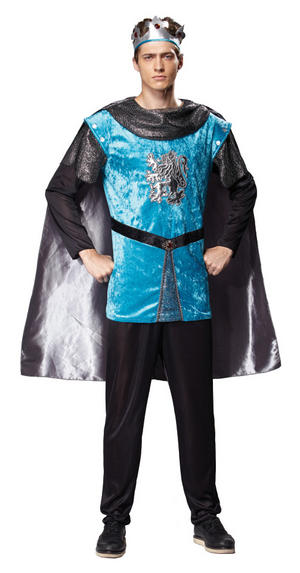 Blue Royal Night Fancy Dress Costume Prince Charming Medieval King Outfit New